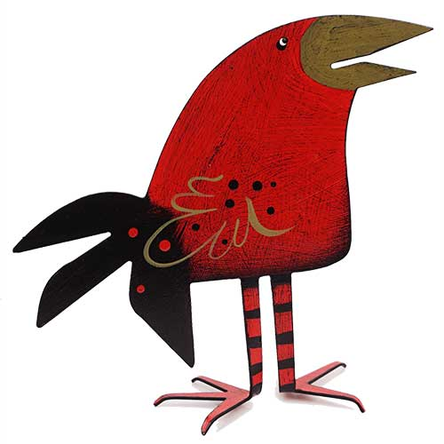 "Acme 5.5"" Round Head Red Bird DM205 SOLD"