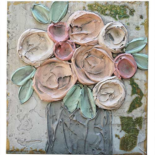 Art by Susan 9x10 Flower Wood Block WP1386 SOLD