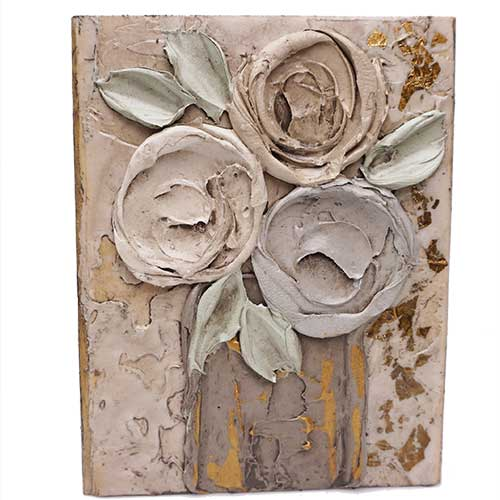 Art by Susan 5.5x7 Flower Wood Block WP1411