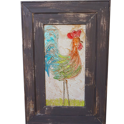 Art by Susan Rooster 20x30 Wood Panel WP949 SOLD