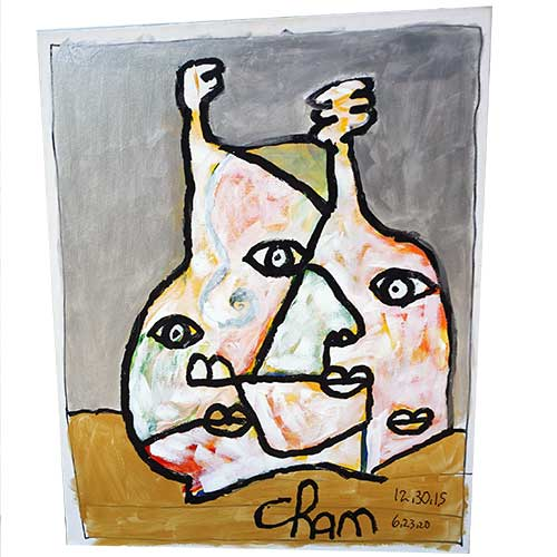 Cham 24x30 Abstract on Canvas WP1479