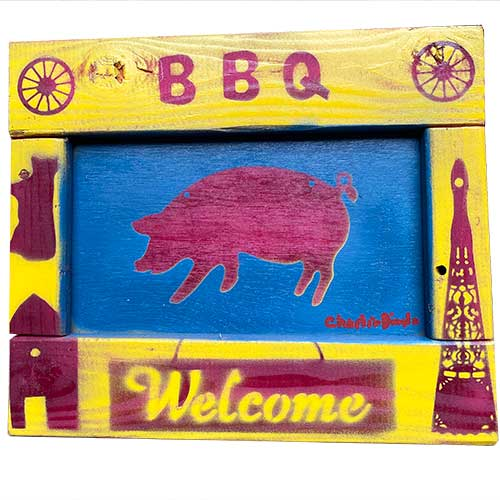 Charlie Dingler 12x10 BBQ Pig WP1579 SOLD