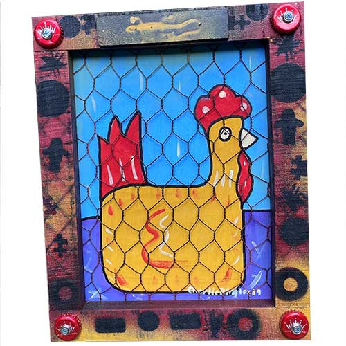 Charlie Dingler 10x13 Chicken WP1580