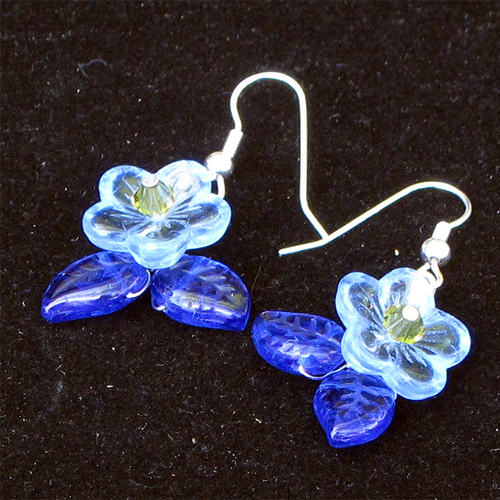 Con Brio Glass Flower Earring JE1212