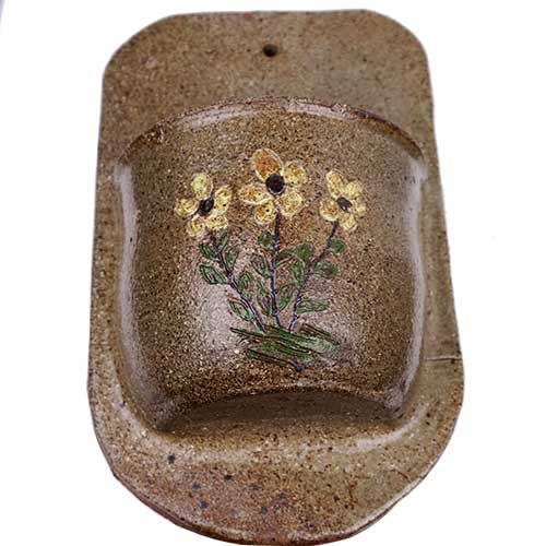 "David Meaders 10"" Wall Pocket w/Flower DP1748"