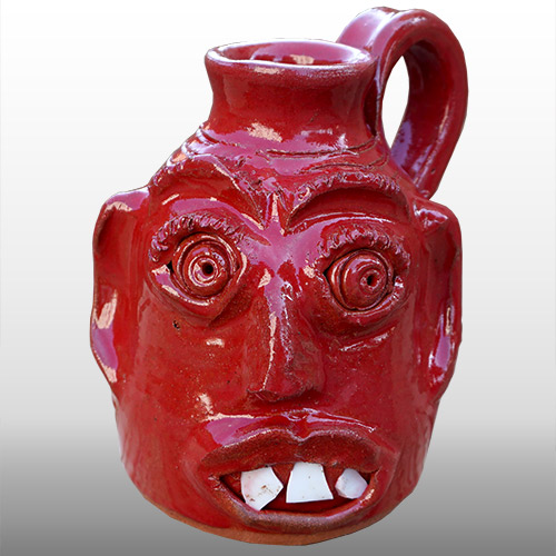 Jamie Ferguson Face Jug Red DP1361