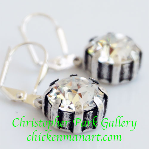 French Kande Earrings Swarovski TL348 SOLD