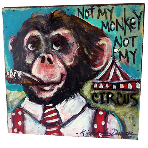 Kimberly Dawn 12x12 Monkey Boss WP1195
