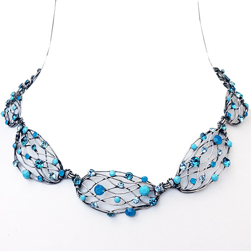 Konplott Necklace Cages Blue JN2209
