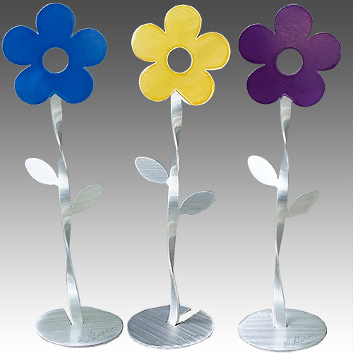 "Metal Petal Dancing Flowers 6.5"" Tall DF864 SOLD"