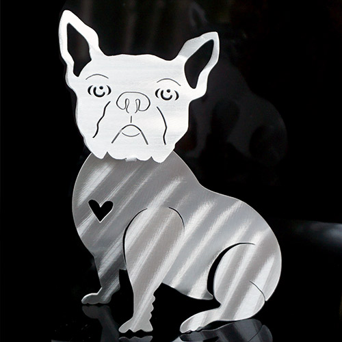 Metal Petal Dog Boston DF867 SOLD