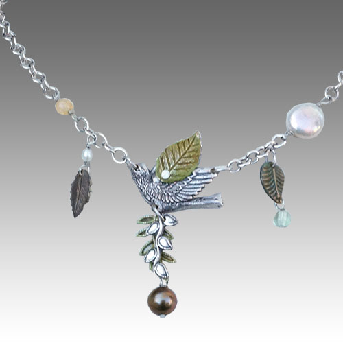 Mullanium Necklace Bird & Leaves NK48
