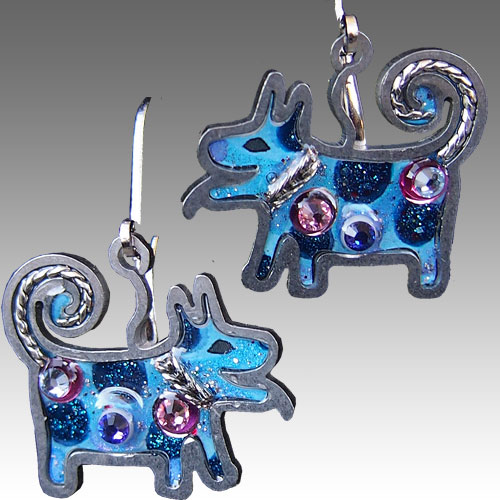 Seeka Dog Earrings JE1516 SOLD