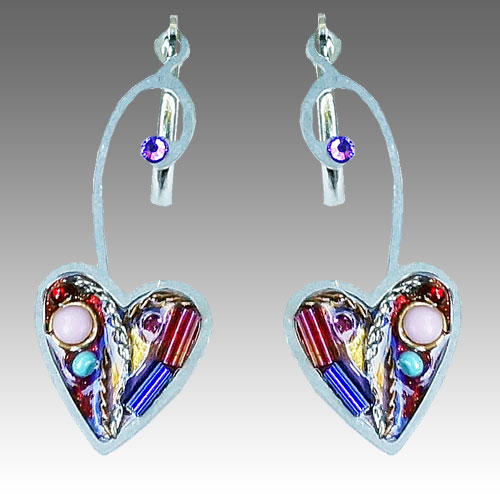 Seeka Heart  Drop Earrings JE2450