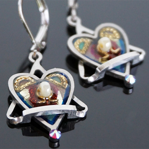 Seeka Heart Wrapped Earrings JE3603