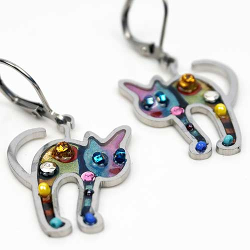 Seeka Cat Earrings JE4180