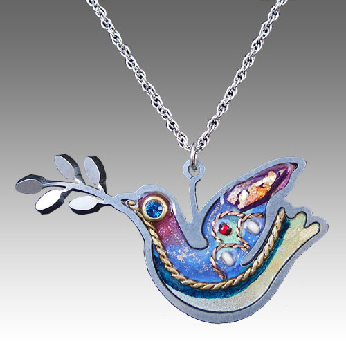 Seeka Peace Dove Necklace JN1381 SOLD