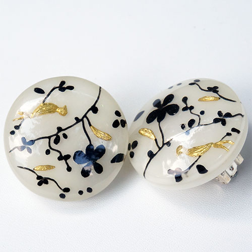 Zsiska Hanami B/W Earrings CLIP JE2919