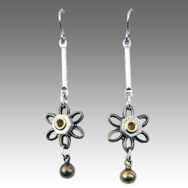 Alchemy Earrings Industrial Flowers Daisy Drop JE2298